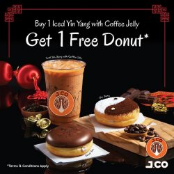 [J.Co Donuts & Coffee] Special Promotion at our Tampines One Outlet from now till end of February!