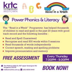 [Kent Ridge Education Hub] Feeling troubled that your child has problems reading?
