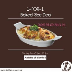 [Delifrance Singapore] Our new baked rice is Chicken Rendang!