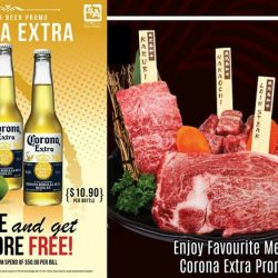 "[Gyu-Kaku] Enjoy your favourite Meat more with special Corona Extra Promotion before end of promotion😁😁😁""Beer Promotion - Corona Extra 1 for"