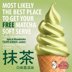 [Manekineko Karaoke Singapore] Matcha Soft Serve?