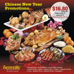 [Serenity Spanish Restaurant] Enjoy great savings at Serenity with our 2018 Chinese New Year Promotions!