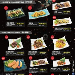 [GAN YAKITORI] Charcoal Grill 🔥 Menu - up to 50% OFFFRIYAY with our new menu - all dishes are grilled with Japanese Bincho charcoal,