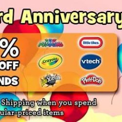 [Babies'R'Us] It's the 3rd year anniversary of our online shop and we are celebrating with 50% off selected brands!
