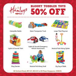 [Plaza Singapura] Toys are an essential part of any kid's growth, and @Hamleys Singapore is proud to present Bloomy, a selection