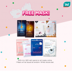 [Watsons Singapore] Mask-Have for 2018!