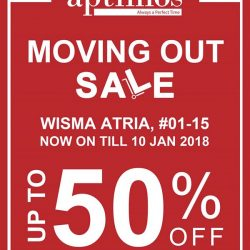 [All Watches / Aptimos] Enjoy up to 50% OFF at Aptimos Wisma Atria store Moving Out Sale!