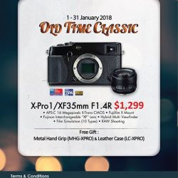 [FUJIFILM] Reminiscing our old time classic for the New YearHurry Down and check out this deal at our FUJIFILM Studio.