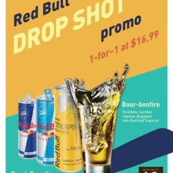 [District 10 Bar & Grill] STARTING TONIGHT, 1-FOR-1 REDBULL DROPSHOTS AT $16.