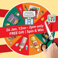 [7-Eleven Singapore] Join us at our new store in GSH Plaza for exclusive deals and a chance to Spin & Win freebies!