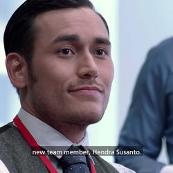 [DBS Bank] He may play ultra suave and smart tech finance expert Hendra Susanto in SPARKS, but @ArifinPutra's first day as