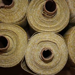 [Chilewich] From our Georgia warehouse: so much raw beauty in our pre-cut fabric rolls.