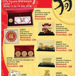 [City Square Mall] Last 2 days of Singapore Mint's Lunar Fair!