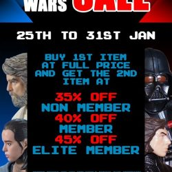 [Simply Toys] STAR WARS THEMED SALE (25th Jan to 31st Jan 2018)Buy 1st item at full price and get the 2nd