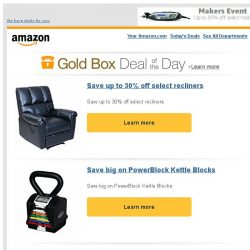 [Amazon] Save up to 30% off select recliners