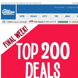 [Chain Reaction Cycles] Final Week of Sale - Top 200 Deals!