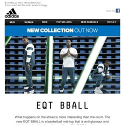 [Adidas] EQT BBALL - Function becomes form. Sport becomes style. Integrity remains integrity
