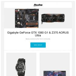 [Massdrop] Gigabyte GeForce GTX 1080 G1 & Z370 AORUS Ultra, Seiko Core SKX Dive Watch, Galaxy Violet PBT All Over Dye-Subbed Keycap Set and more...