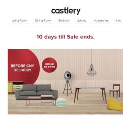 [Castlery] Countdown/ 10 days before New Year Sale ends!