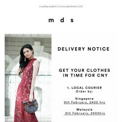 [MDS] Receive your clothes in time for CNY.