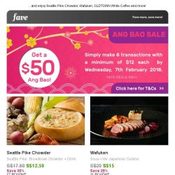 [Fave] Get your $50 Ang Bao here ☛