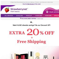 [StrawberryNet] , Be our VIP! Get 20% Off Everything + Free Int'l Shipping
