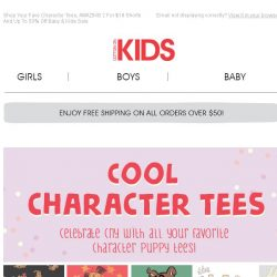 [Cotton On] Cute And Cool Tees...Full Of Character!