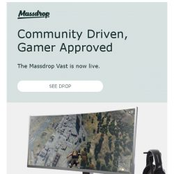 [Massdrop] Massdrop Vast 35-Inch Curved Gaming Monitor: Available Now