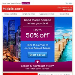 [Hotels.com] Your access to up to 50% off hotels