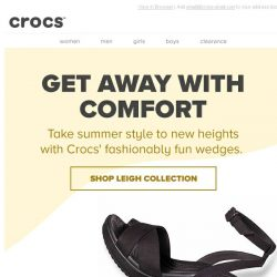[Crocs Singapore] When fashion meets comfort: Leigh II Wedge & Sandals collection. Get yours now with FREE SHIPPING!