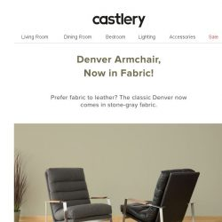 [Castlery] Sit back. The luxurious Denver armchair now comes in Fabric.