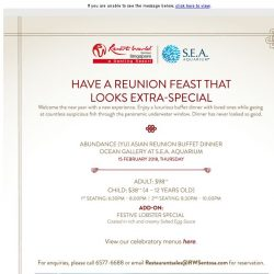 [Resorts World Sentosa] Have A Reunion Feast That Looks Extra-Special