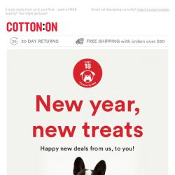 [Cotton On] New Year, New Deals!