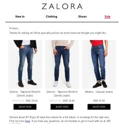 [Zalora] Are you still shopping for Regular Fit?