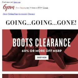 [6pm] Can't-Miss Clearance: 60% or more off boots, bags, and accessories!