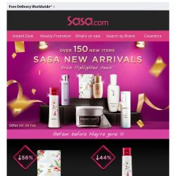[SaSa ] 【Sasa New Arrivals】Over 150 New Items!