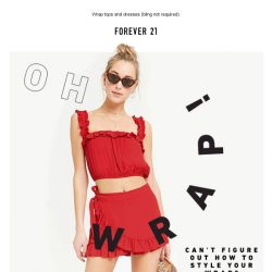 [FOREVER 21] Wrap It.