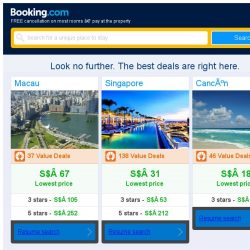 [Booking.com] Macau, Singapore, or Cancún? Get great deals, wherever you want to go