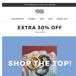 [Yoox] Shop the top!
