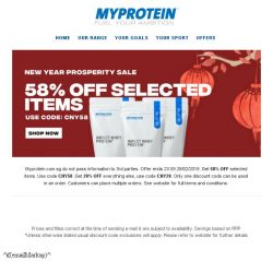 [MyProtein] 🏮 Happy Chinese New Year from Myprotein!