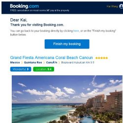 [Booking.com] Grand Fiesta Americana Coral Beach Cancun – are you still interested in staying, Kai?