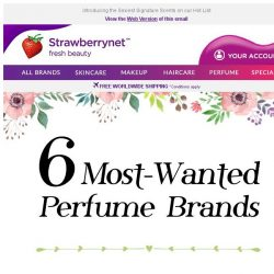 [StrawberryNet] 6 Most-Wanted Perfume Brands Up to 43% Off!