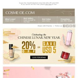 [COSME-DE.com] CNY 20% Off Sitewide📣Best Gift Ideas🎁