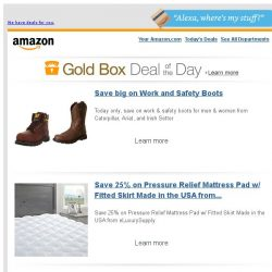 [Amazon] Save big on Work and Safety Boots