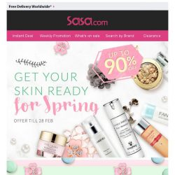 [SaSa ] 【Get Your Skin Ready For SPRING】BIG SALE UPTO 90% OFF