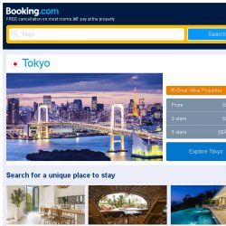[Booking.com] Deals in Tokyo from S$ 361