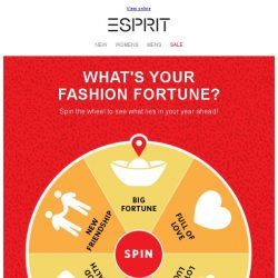 [Esprit] SPIN NOW - your CNY fashion fortune awaits!