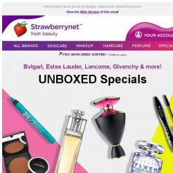 [StrawberryNet] UNBOXED Beauty Up to 70% Off! Ditch the Packaging for better prices!