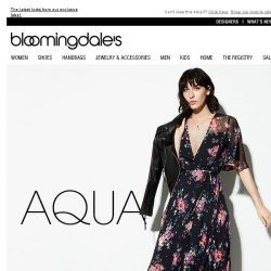 [Bloomingdales] All-new AQUA: From floral wrap dresses to on-trend mules