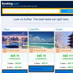 [Booking.com] Tokyo, Cancún, or Kyoto? Get great deals, wherever you want to go